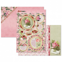 Hunkydory Birth Flowers Card Topper Set June Rose