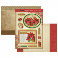Hunkydory Birth Flowers Card Topper Set December Poinsettia