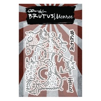 "Brutus Monroe Clear Stamp 3x4"" Monster Selfie"
