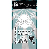 "Brutus Monroe Clear Stamp 2x3"" Little Monster"