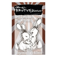 "Brutus Monroe Clear Stamp 3x4"" Bunny Kisses"