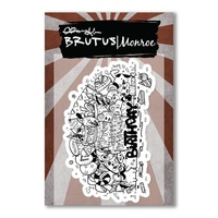 "Brutus Monroe Clear Stamp 3x4""Joey's Birthday Year Two"