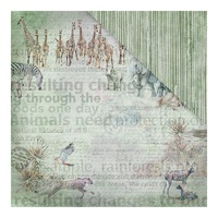 "Fabscraps 12x12"" Double Sided Cardstock Call From the Wild Vanishing"
