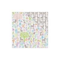 "Fabscraps 12x12"" Double Sided Cardstock Woodland Friends Woodlands"