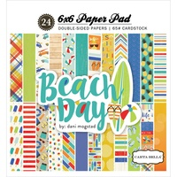 "Carta Bella 6x6"" Double Sided Paper Pad Beach Day 24pg"