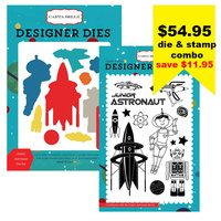 Carta Bella Die & Stamp Combo Space Academy Collection Junior Astronaut