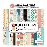 "Carta Bella 6x6"" Double Sided Paper Pad Metropolitan Girl 24pg"