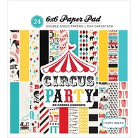 "Carta Bella 6x6"" Double Sided Paper Pad Circus Party 24pg"