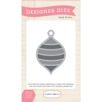 Carta Bella Die Striped Ornament