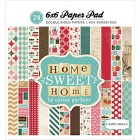 "Echo Park 6x6"" Double Sided Paper Pad Home Sweet Home 24pg"