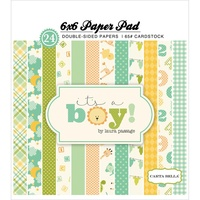"Carta Bella 6x6"" Double Sided Paper Pad It's a Boy 24pg"