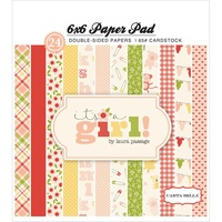 "Carta Bella 6x6"" Double Sided Paper Pad It's a Girl 24pg"