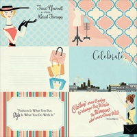 "Carta Bella 12x12"" Double Sided Cardstock Metropolitan Girl Journaling Cards 4x6"""
