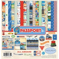 "Carta Bella Passport 12x12"" Collection Kit with Sticker Sheet"