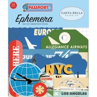 Carta Bella Passport Cardsock Diecuts Ephemera Icons 33pc
