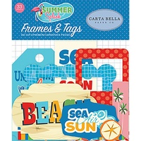 Carta Bella Summer Splash Ephemera Cardstock Diecuts Frames & Tags 33pc