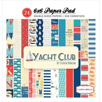 "Carta Bella 6x6"" Double Sided Paper Pad Yacht Club 24pg"