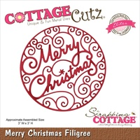 CottageCutz Elites Die Merry Christmas Filigree
