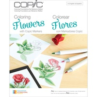 Copic Foundations Book Colouring Flowers by Marianne Walker