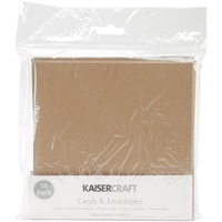 "Kaisercraft 5.5x5.5"" Square Cards & Envelopes Natural 10pk"