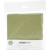 "Kaisercraft 5.5x5.5"" Square Cards with Envelopes Olive 10pk"