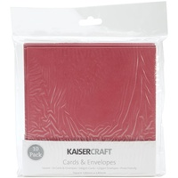 "Kaisercraft 5.5x5.5"" Square Cards with Envelopes Red 10pk"