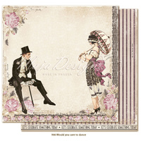 "Maja Design Celebation 12x12"" Cardstock Would You Care To Dance?"