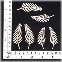 Scrapmatts Chipboard Shapes Ferns 01  6pc