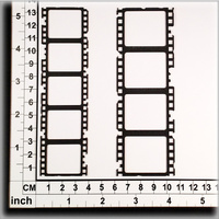 Scrapmatts Chipboard Shapes Film Strips 05  2pc