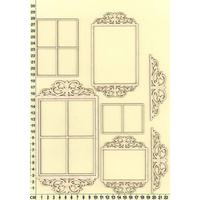 Scrapmatts Chipboard Shapes Ornate Frames 13   8pc