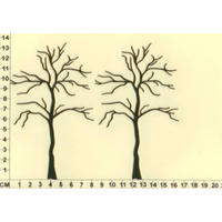Scrapmatts Chipboard Shapes Trees 03   2pc
