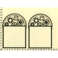 Scrapmatts Chipboard Shapes Arch Window Frame 05   2pc