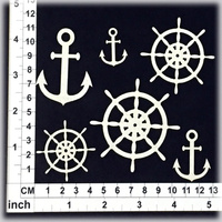 Scrapmatts Chipboard Shapes Nautical Design 02   6pc