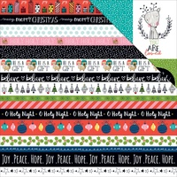 "Illustrated Faith Double Sided Cardstock 12x12"" Christmas Borders"