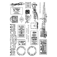 Crafty Individuals Unmounted Rubber Stamp Vintage Tickets & Ephemera
