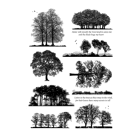 Crafty Individuals Unmounted Rubber Stamp Listen to the Trees