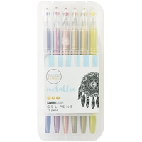 Kaisercraft KasierColour Gel Pens Metallic 12pk