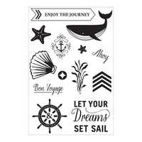 Hero Arts Adrift Clear Stamp Set Sail by Basic Grey