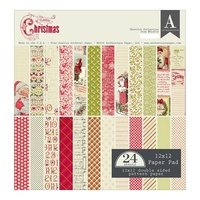"Authentique 12x12"" Cardstock Pad Classic Christmas"