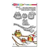 Stampendous Cling Stamp & Die Set Owl Be Home