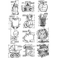 Stampers Anonymous Cling Stamp Mini Blueprints #8 by Tim Holtz