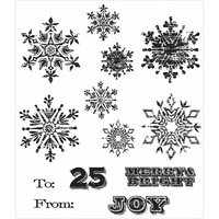 Stampers Anonymous Cling Stamp Mini Weathered Winter by Tim Holtz