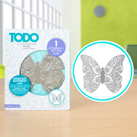 Todo Hotfoil Plate Henna Butterfly Large