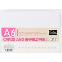 Couture Creations A6 Card & Envelope Pack White 50pk