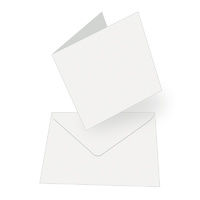 Couture Creations Square Card & Envelopes White 50pk