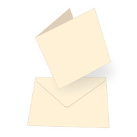 Couture Creations Square Card & Envelopes Cream 50pk