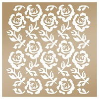 "Couture Creations Stencil 8x8"" Rose Trellis by Anna Griffin"