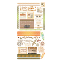Couture Creations Diecut Ephemera Pack Wild & Free Collection