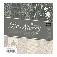 "Couture Creations 12x12"" Paper Pad Be Merry & Classic 24pg"