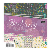 "Couture Creations 12x12"" Paper Pad Be Merry & Bright 24pg"